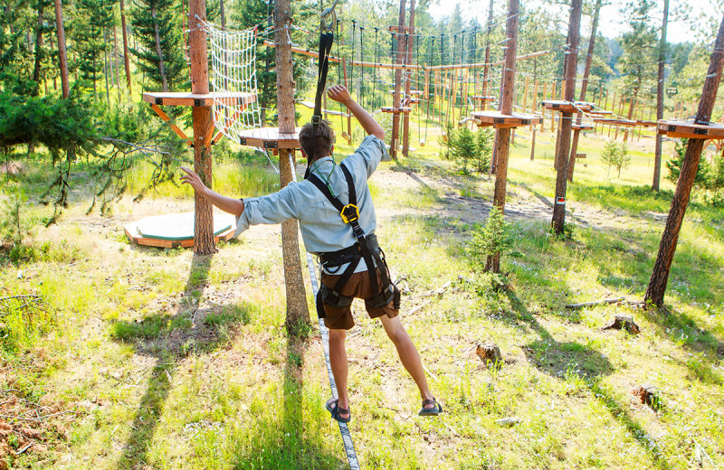 Rope course at The Resort at Paws Up.