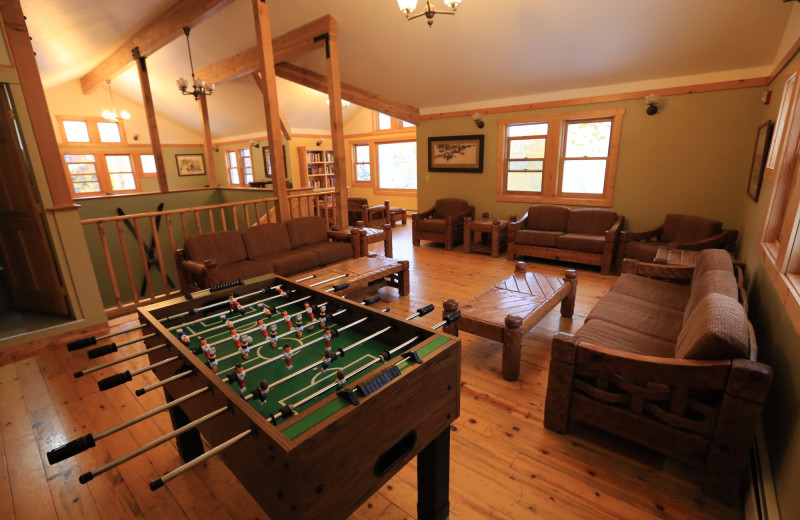 Lodge Foosball at The Cabins at Historic Columbine.