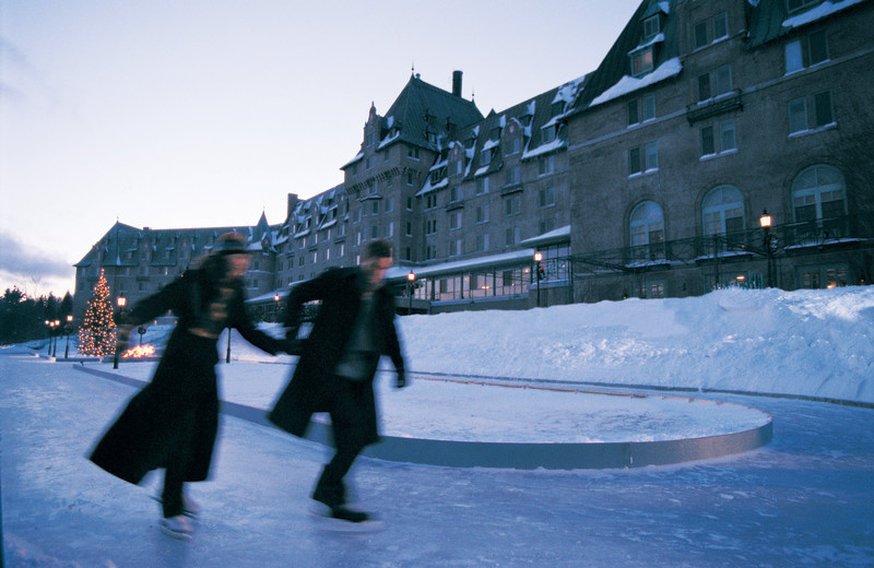 Ice skating at Fairmont Le Manoir Richelieu.
