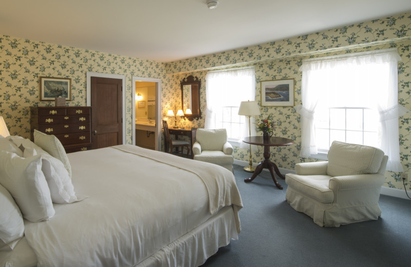 Guest room at Black Point Inn.