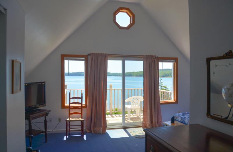 Cabin interior at Flanders Bay Cabins.