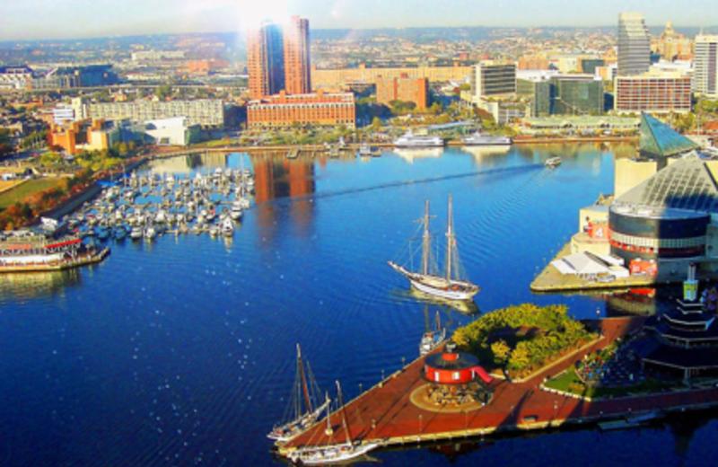Baltimore Inner Harbor near Best Western Baltimore.