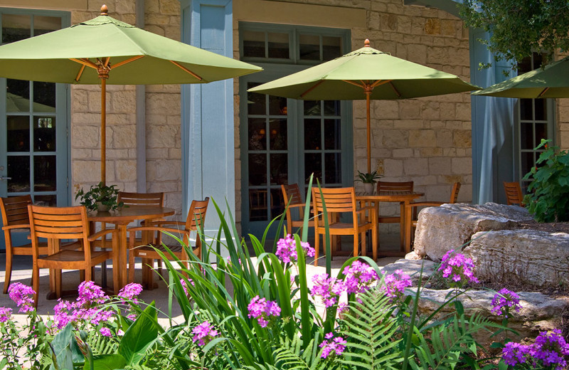 Patio at Hyatt Regency Hill Country Resort and Spa.