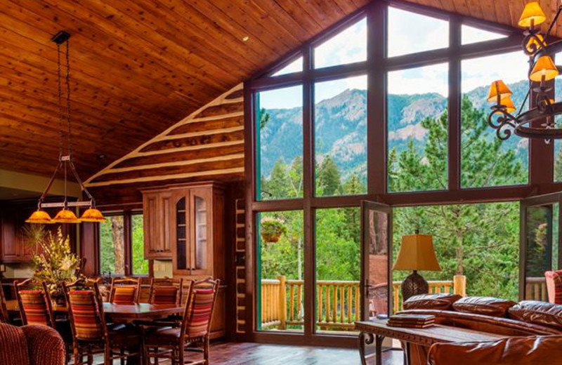 Lodge interior at The Ranch at Emerald Valley.
