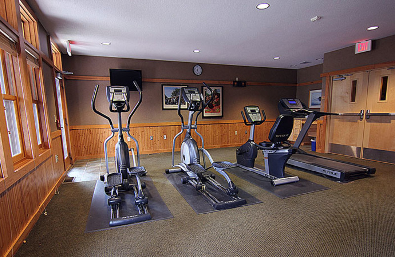 Fitness room at Heartwood Conference Center & Retreat.