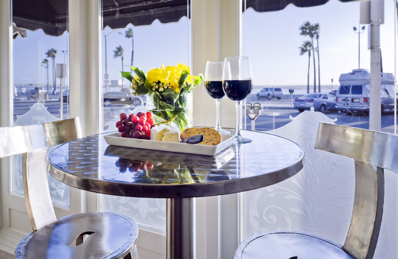 Dining at Newport Beach Hotel.