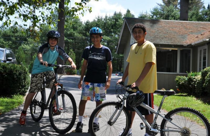 Bike riding at Lake Morey Resort.