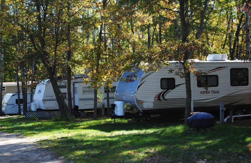Trailers at Sandy Pines Resort.