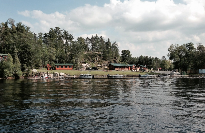 Exterior view of The Pines of Kabetogama Resort.
