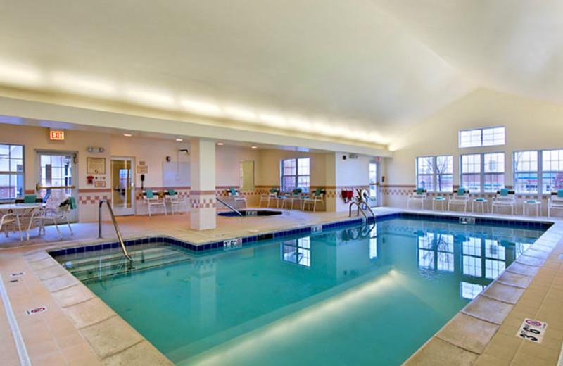 Indoor pool at Residence Inn Detroit Novi.