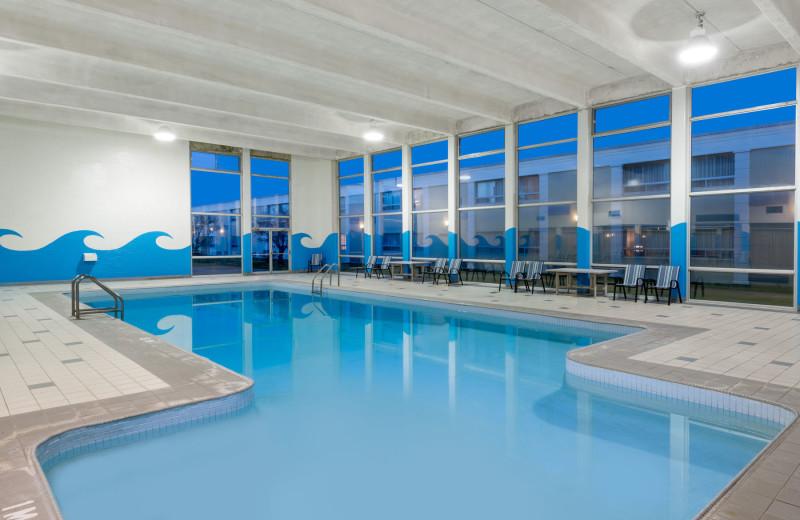 Indoor pool at Ramada London.