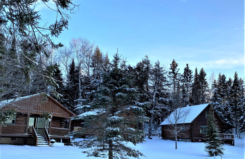 Winter at Wilderness Bay Lodge and Resort.