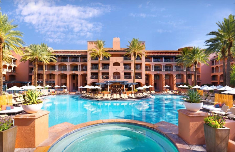 Outdoor pool at The Fairmont Scottsdale Princess.