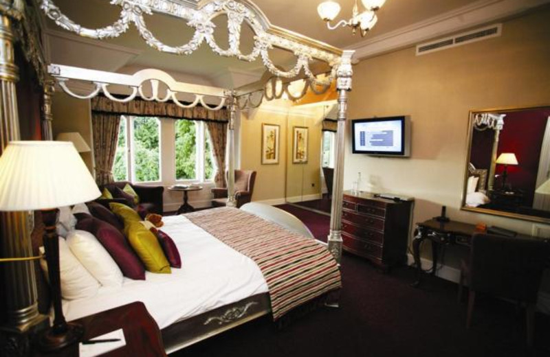 Guest room at East Lodge Country House Hotel.
