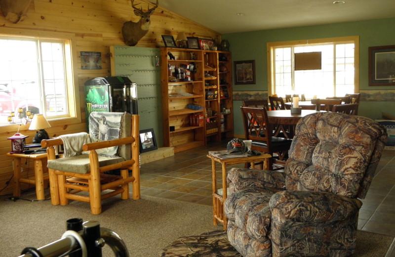 Interior view of Lakeroad Lodge.