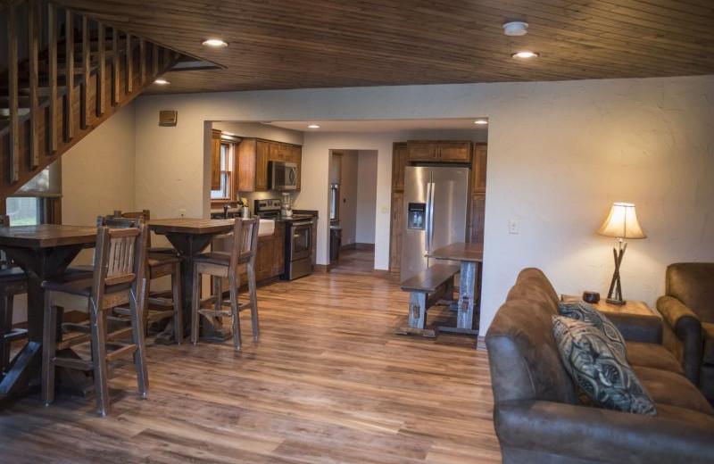 Rental interior at Sand County Service Company - Dellview Lake Lodge.