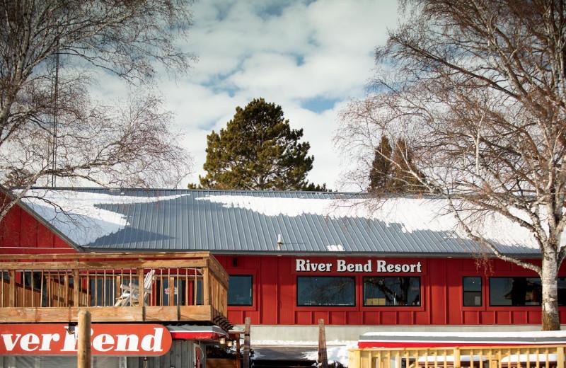 Winter at River Bend's Resort & Walleye Inn.