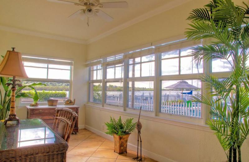 Vacation rental interior at Barefoot Beach Resort.