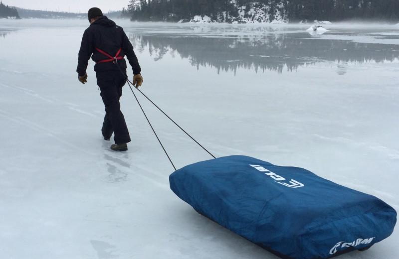 Winter at Loon Lake Lodge.