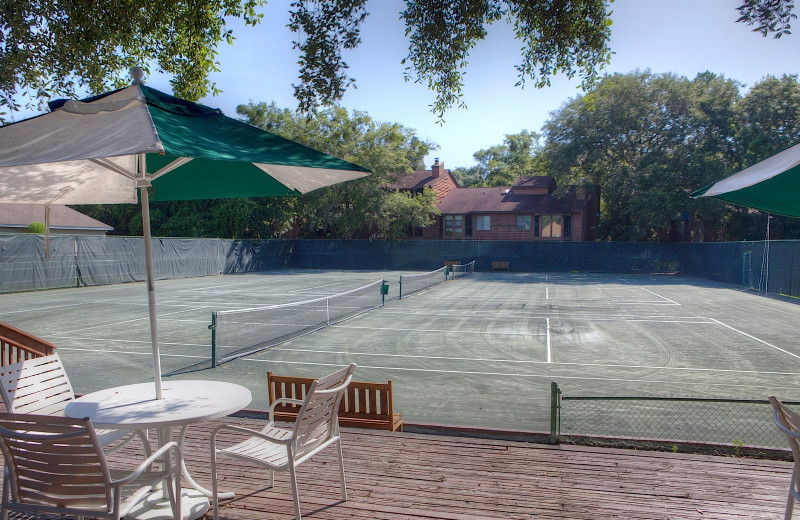 Tennis court at Sea Palms Resort.