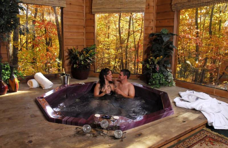 Hot tub at Forrest Hills Resort.