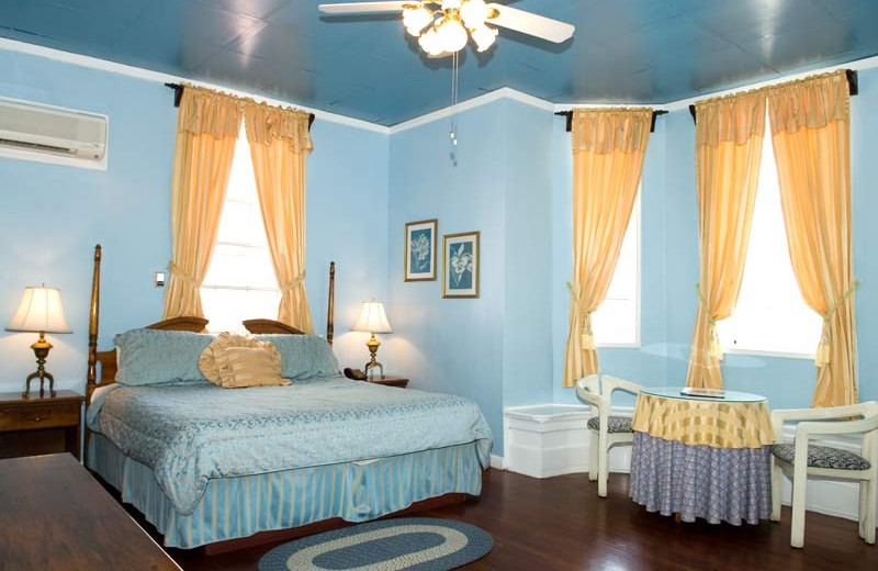 Guest room at Great House.
