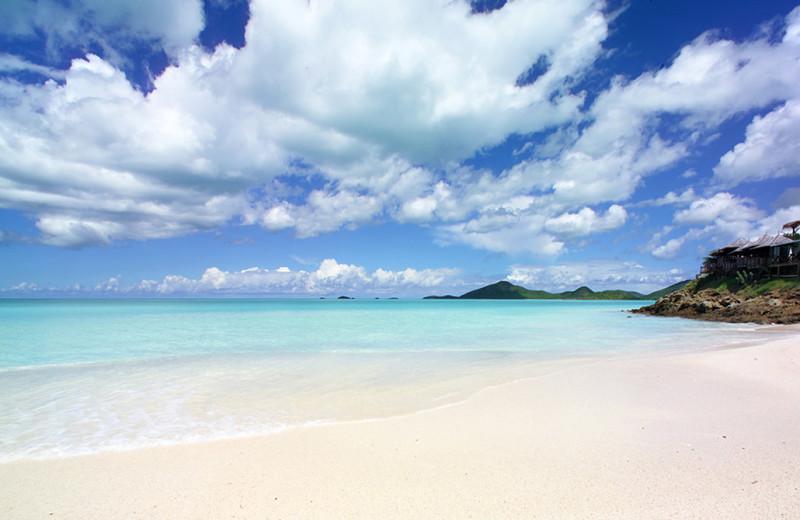 The beach at Cocobay Resort.