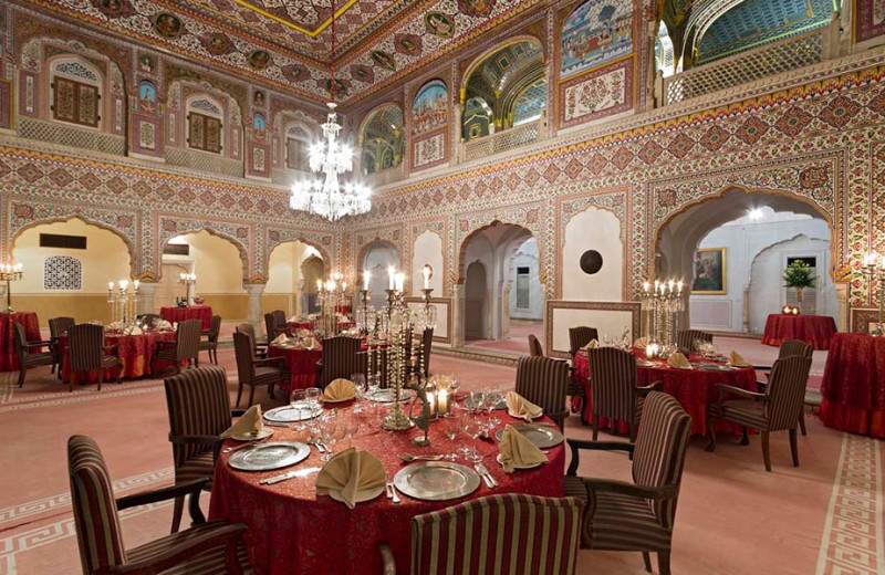 Event dining at Samode Palace.
