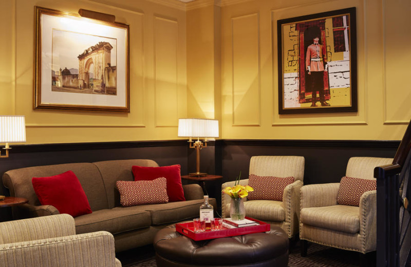 Lounge area at Dunhill Hotel