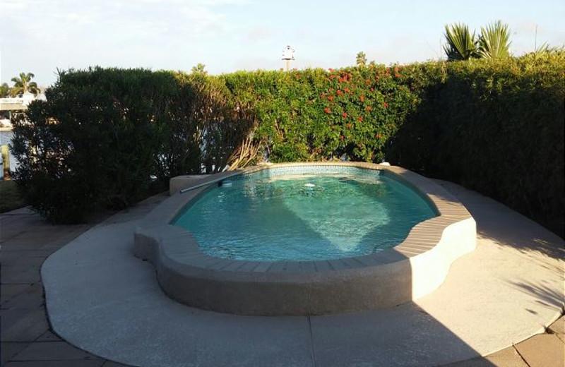 Rental hot tub at The House Company.