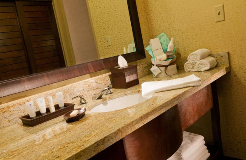 Guest bathroom at Glenwood Hot Springs.
