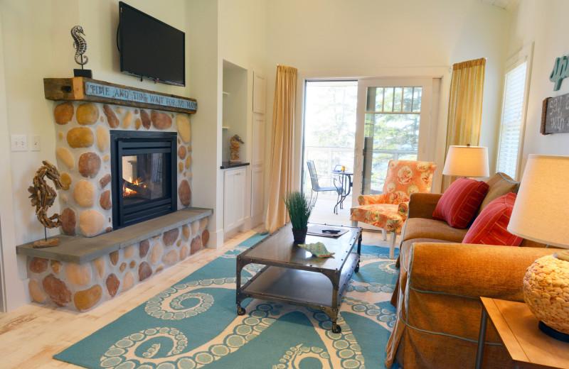 Cottage living room at Newagen Seaside Inn.
