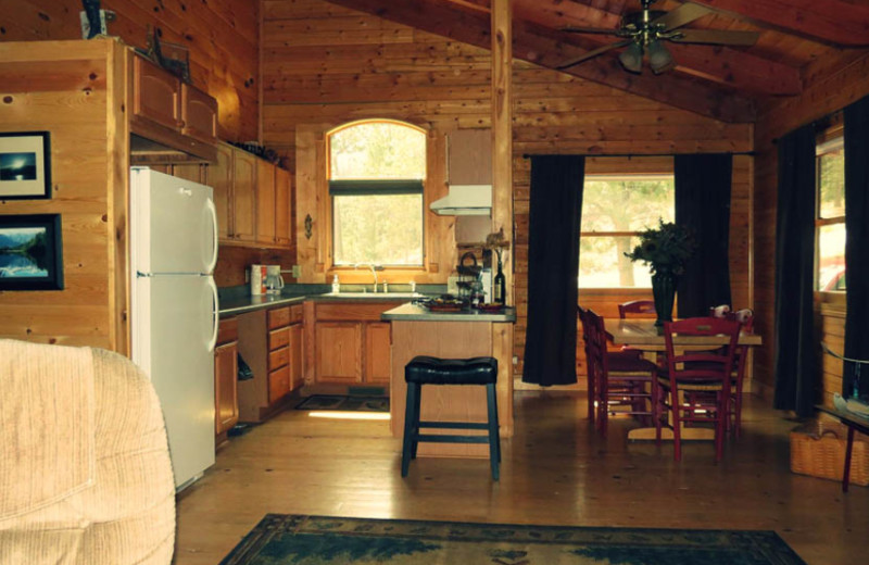 Rental kitchen at Edelweiss Mountain Lodging.