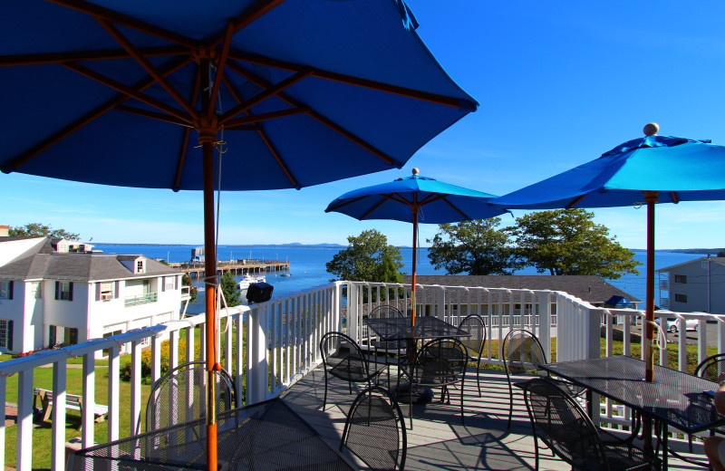 Patio view at Atlantic Oceanside Hotel & Conference Center.