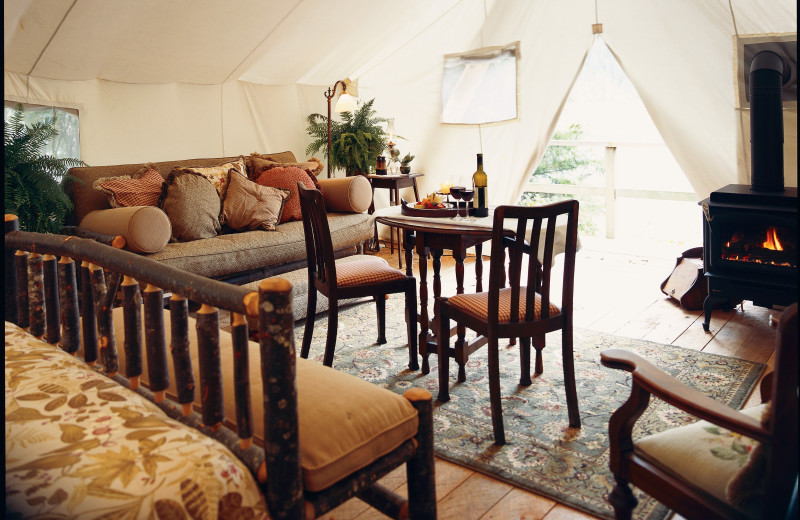 Interior view at Clayoquot Wilderness Resort.