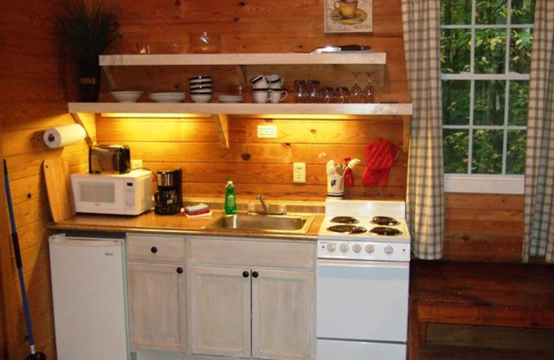 Cabin kitchen at Paradise Hills Resort and Spa.