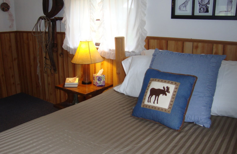 Guest room at Bear Creek Ranch.