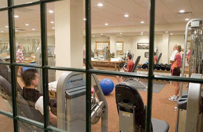 Fitness room at The Whiteface Lodge.