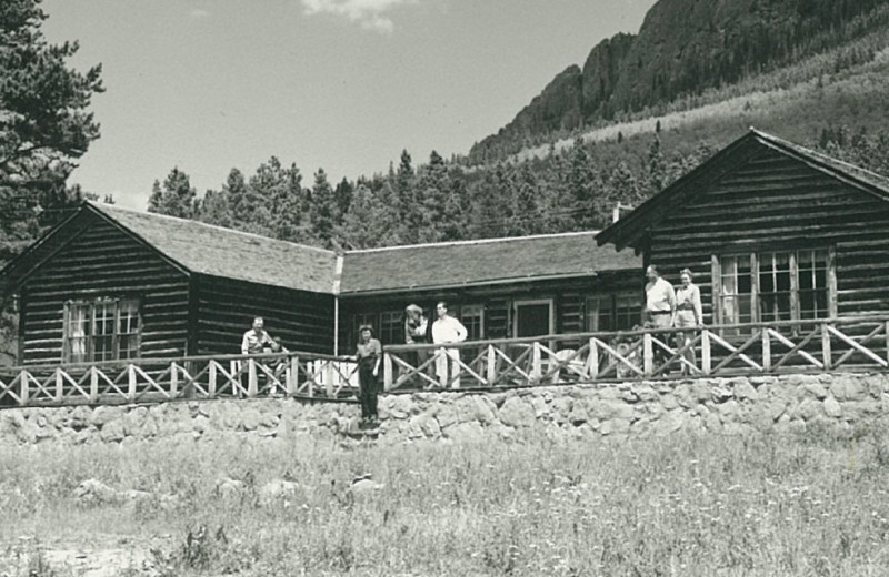 Historic photo of Wind River Ranch.