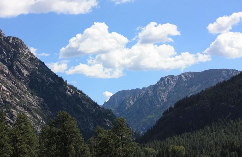 Mountains at Pine River Lodge.