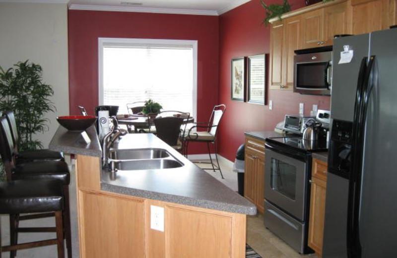 Rental kitchen at Jefferson Landing.