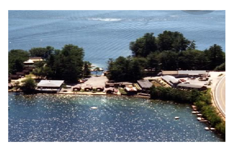 Aerial view of Sandy Point Beach Resort.