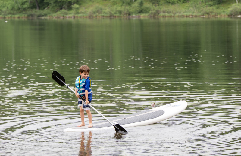 Paddle board at Lost Lake Lodge.