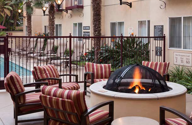 Patio and pool at Residence Inn San Diego Downtown.