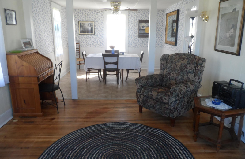 Cottage interior at Rossport Lodging & Retreat.
