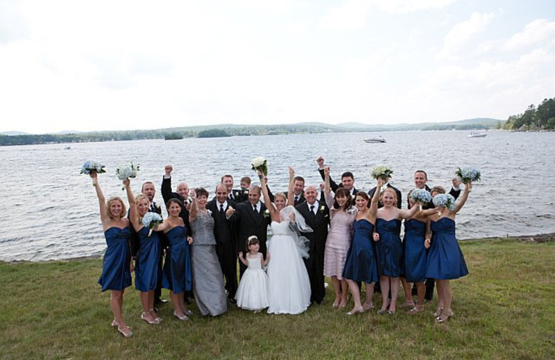 Wedding party at The Margate on Winnipesaukee.