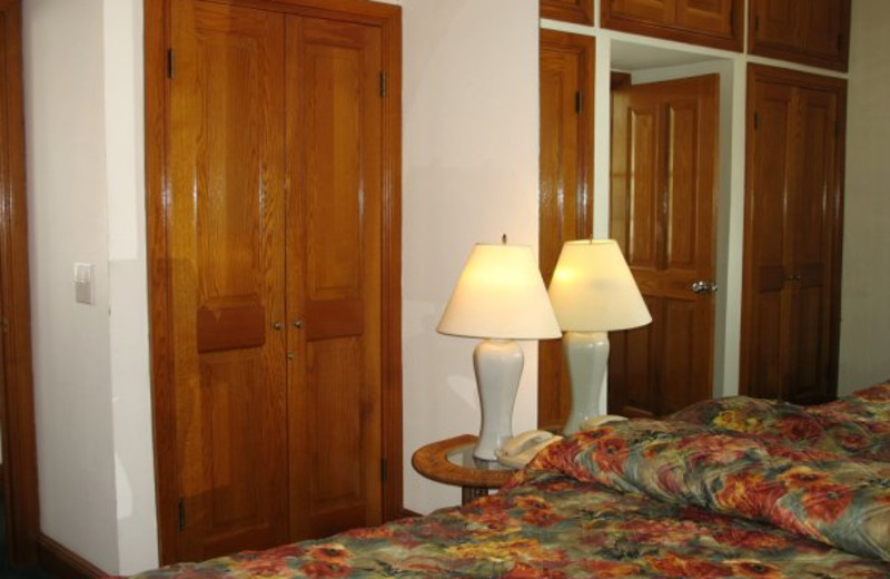 Guest bedroom at The Banyan Resort.