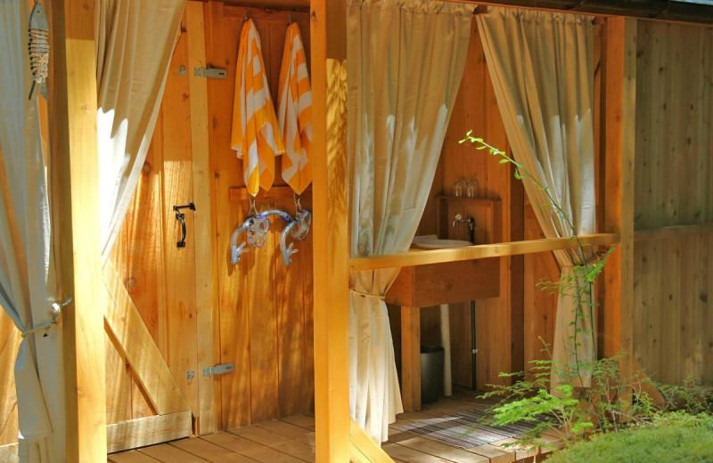 Shower at Cabana Desolation Eco Resort.