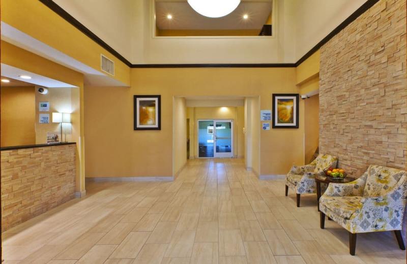 Lobby at Holiday Inn Express Hotel & Suites - Benton Harbor.