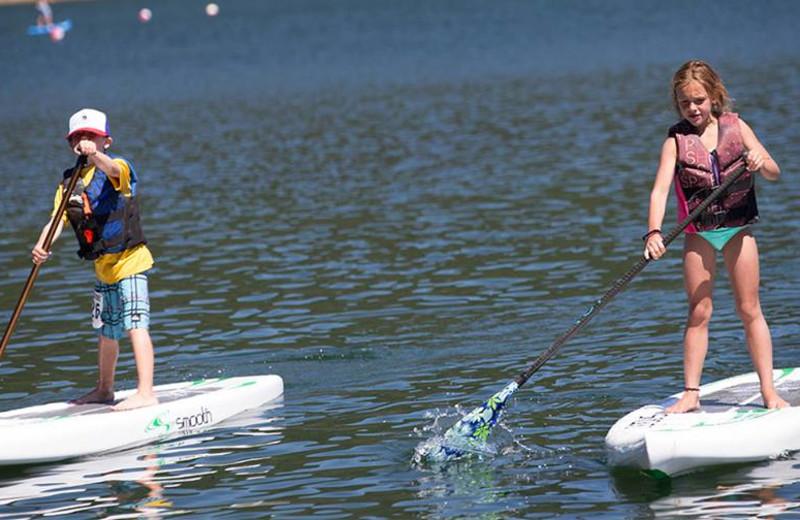 Paddle board at Elk Lake Resort.